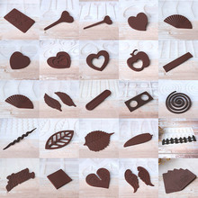 A variety of shapes leaves loving heart wings Non-stick Silicone Chocolate Mold Ice Molds Cake Mould Bakeware Baking Tools