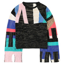 Shuchan Women Sweater and Pullovers 2019 Designer Clothing for Fall High Street Fashion O-Neck Computer Knitted