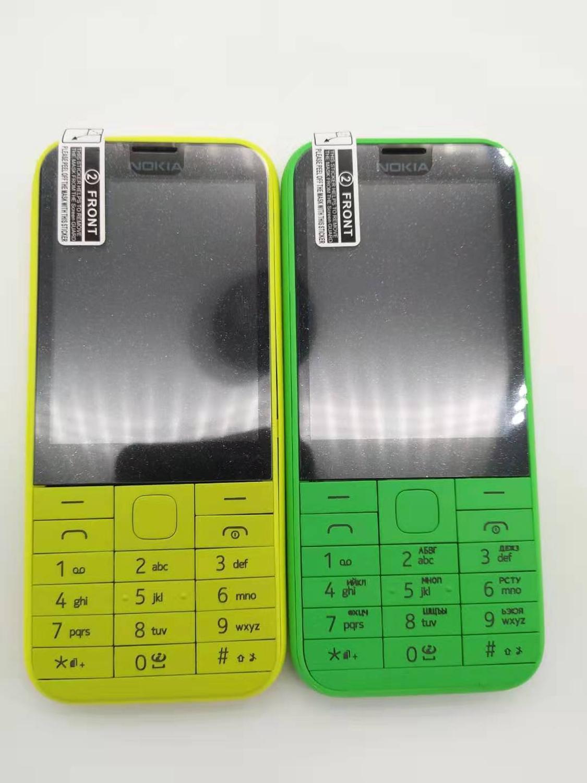 Фото. 225 Оригинальный разблокирована Nokia 225 одноядерный 2,8 дюймов 2MP Камера 2 г GSM, FM Bluetooth
