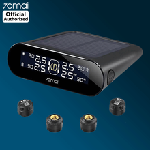 External Sensor 70mai Tire Pressure Monitoring System Lite APP Control Solar Power USB TPMS Lite 70 mai Car Tyre Pressure Alarm(China)