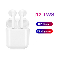 i12 TWS Bluetooth Earphone TWS i12  Wireless Earbuds Bluetooth Headset with Charging Box for Smart Phone Auriculars i12 tws bluetooth earphone wireless earphones touch control earbuds 3d surround sound charging case for iphone android headset