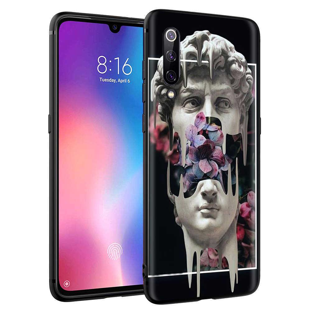 Michelangelo Seni Patung Estetika Case untuk Xiaomi Redmi Note 4 4x 4a 5 5a 6 8 8A MI 9 9S 10 8T K30 Pro Max Lite Plus