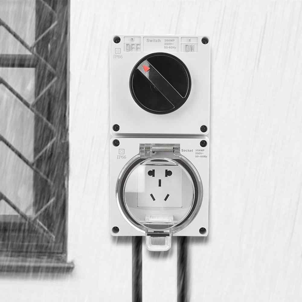 IP66 wodoodporna ściana gniazdko ścienne gniazdo adaptera wtykowego z przełącznikiem nowość