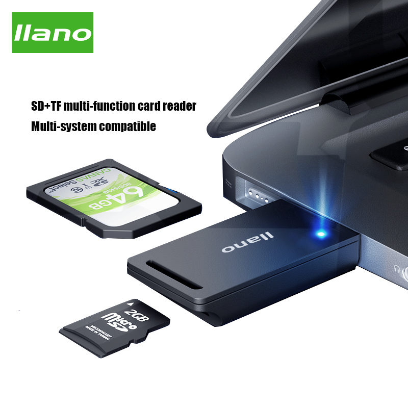 Llano Card Reader <font><b>USB</b></font> <font><b>3.0</b></font> SD <font><b>TF</b></font> Cardreader Smart Memory SD Card Reader Multi-function High-speed Card Reader Support SD/<font><b>TF</b></font> image