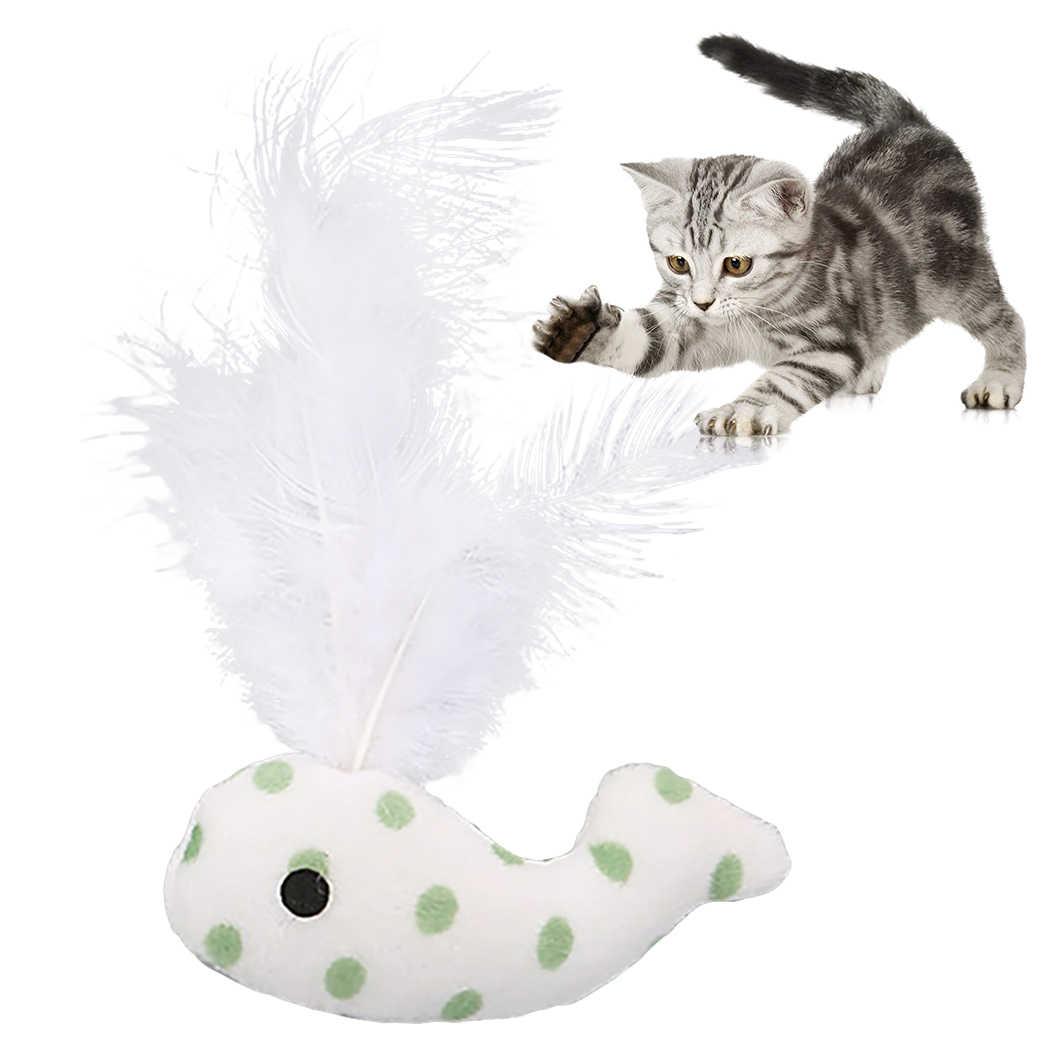 재미 있은 고양이 장난감 낚시 막대 고양이 고양이 애완 동물 장난감 스틱 티저 레인보우 스 트리머 대화 형 고양이 놀이 지팡이 고양이를위한 깃털 완구