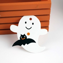 50Pcs/lot Halloween Theme Series Tag Decoration Holiday Party Supplies Crafts Kids Gift