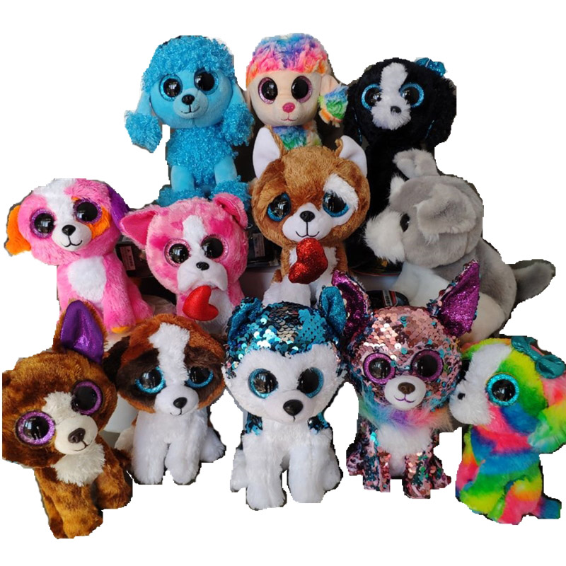 Dog Mandy Poodle Rainbow Barks Sequin Chihuahua Whiskers Harper Schnauzer Smootches Husky Duke Lola Plush Toys Stuffed Animals