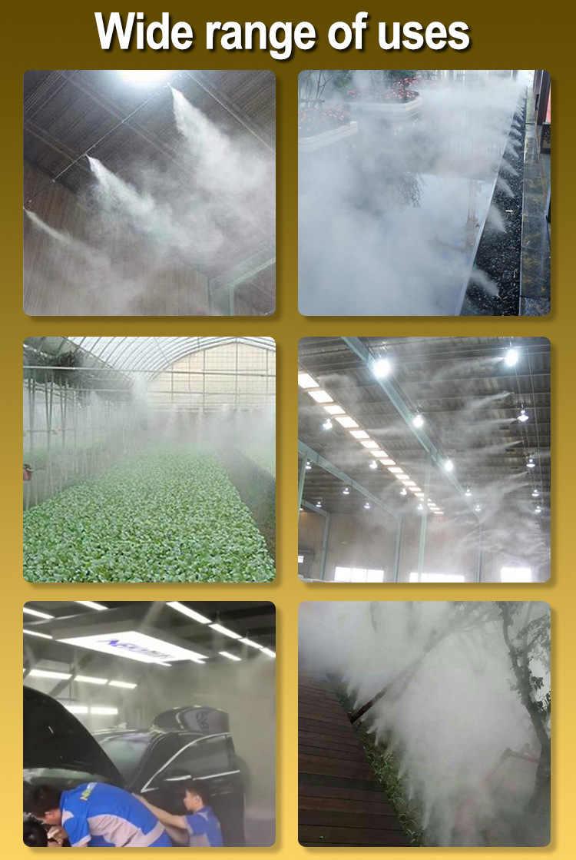 Tekanan Rendah Kualitas Tinggi Gantung Anti Drip Misting Nozzle Cross Atomizing Nozzle Kabut Semprotan Air untuk Rumah Kaca Irigasi Tetes
