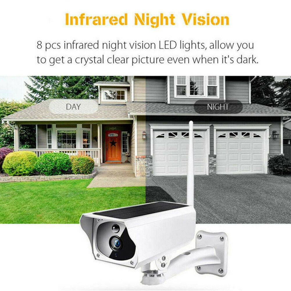 Solar Powered Security Camera IP Wifi Wireless Chargeable HD 1080P Outdoor  NC99