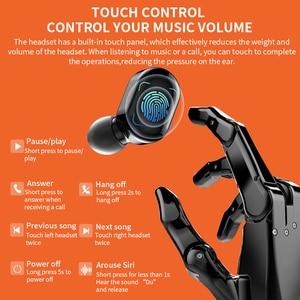 Image 2 - TWS беспроводные Bluetooth наушники, стерео HD беспроводные наушники, мини наушники с сенсорным управлением, музыкальная гарнитура с микрофоном для смартфонов