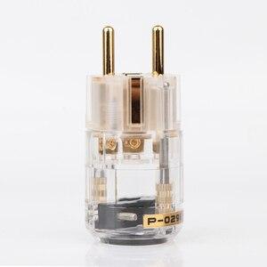 Image 3 - גובה איכות 24k מצופה זהב Schuko תקע האיחוד האירופי גרסה כוח תקעים עבור אודיו כבל חשמל 24K זהב מצופה תקע זכר נקבה אני