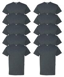 AEM180143  Men's Heavy Cotton 10 Pack Cotton  Casual  Short O-Neck