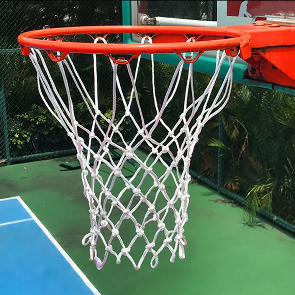 2/1 шт, высокое качество, прочный, стандартный размер, нейлоновая нить, спортивный баскетбольный обруч, сетка, задняя панель, обод, мяч, сетчат...