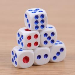 Dados de plástico blanco para juegos, 10 Uds., dados estándar de seis lados, para fiestas de cumpleaños, juegos de mesa, ocio y entretenimiento