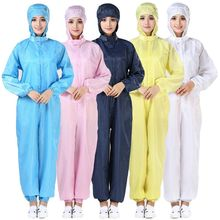 Beschermende Pak Overall Met Cap Full Body Bescherming, polyester Geweven Labor Veiligheid Stofdicht En Anti Statische