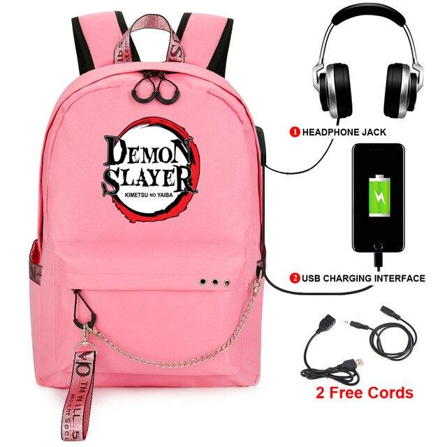 Купить demon slayer: kimetsu no yaiba backpack student kids school картинки
