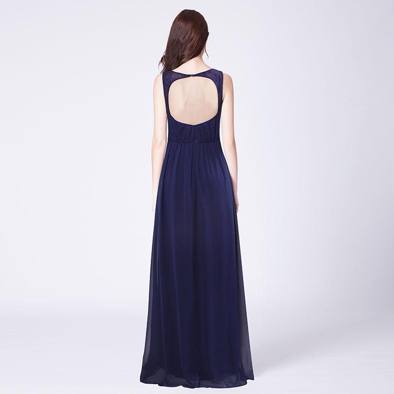 It's Yiiya Formal Dress O-Neck Sleeveless Chiffon Plus Size A-Line Robe De Soiree Floor-Length Lace Evening Dress 2020