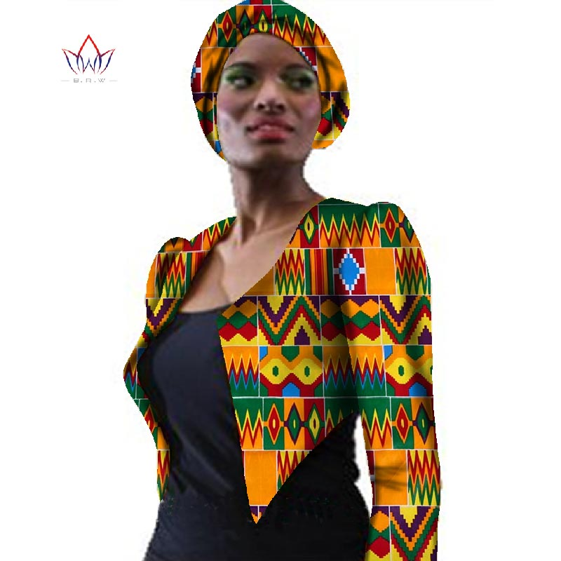 New African Women Clothing OutfitsTrech Coat Bazin African Print Coat Jacket Dashiki Plus Size  Outwear WY057