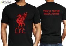 Liverpool T Shirt Never Give Up Champions Salah Football Madrid Adult Mens Kids Free Shipping New Fashion Summer