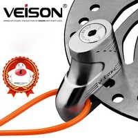 VEISON Motorcycle Rotor wheel Disc Lock Motorbike anti Theft Brake scooter Lock motocicleta + Reminder Cable+2 Keys