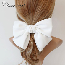 Large Hair Clips Ties Hair Bows Satin Two Layer Butterfly Bow Hairpins Girls Hairpins For Women Bowknot Hair Accessories