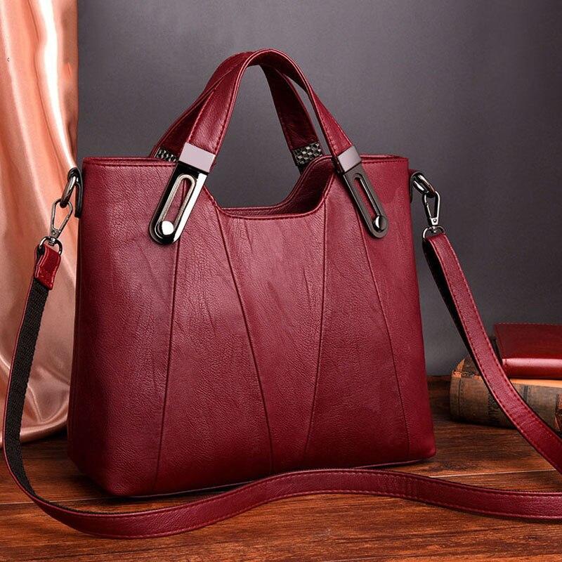 Image 3 - HOT SALE Women Shoulder Messenger Bag Luxury Leather Handbags  Women Bags Designer Famous Brand Female Crossbody Bags Sac A  MainShoulder Bags