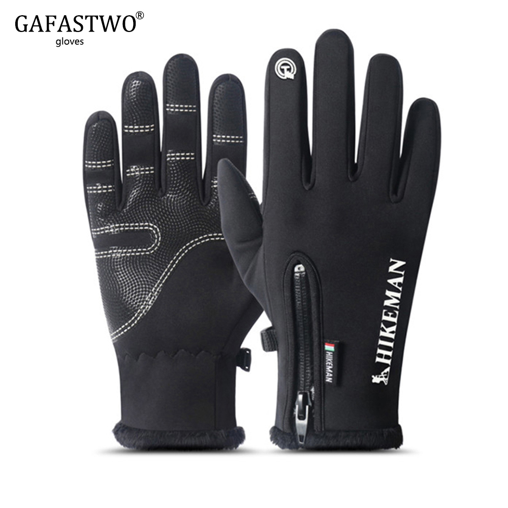 Winter Gloves Warm Waterproof Man Gloves Touch Screen Fashion Ladies Plus Velvet Wind-proof Five Colors Non-Slip Women Gloves