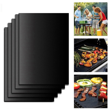 Reusable Non-Stick BBQ Grill Mat Pad Baking Sheet Portable Outdoor Picnic Cooking Mat Barbecue Bake Oven Tool Hot selling image