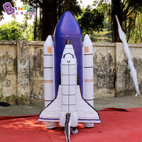 Customized 2.5m height inflatable shuttle / inflatable rocket ship / inflatable space shuttle toy