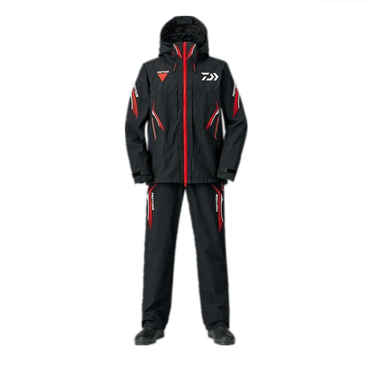 2019 nouveau hiver Daiwa vêtements de pêche en plein air imperméable veste de pêche pantalons de pêche hommes respirant pêche ensembles
