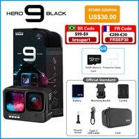 Gopro Hero 9 Zwart Onderwater Actie Camera 4K 5K Met Kleur Front Screen, sport Cam 20MP Foto 'S, Live Streaming Go Pro Hero 9