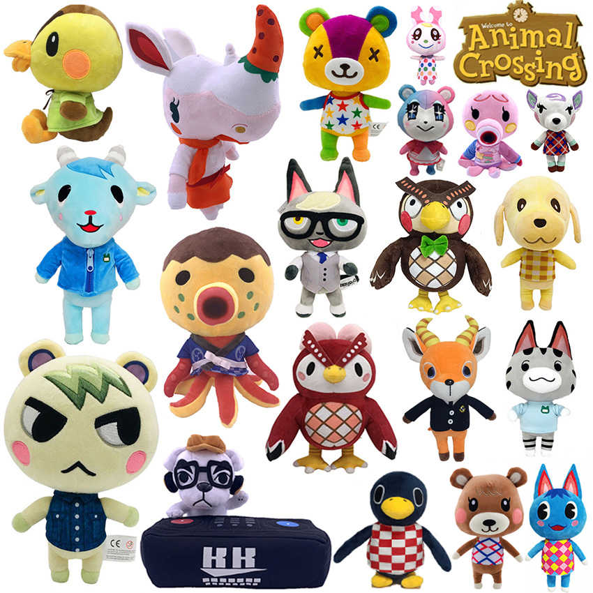 20Cm 28Cm Animal Crossing Knuffel Cartoon Raymond Gratis Weggeven 1Pcs Amiibo Kaart Jingjiang Pop Kk isabelle Pluche Speelgoed