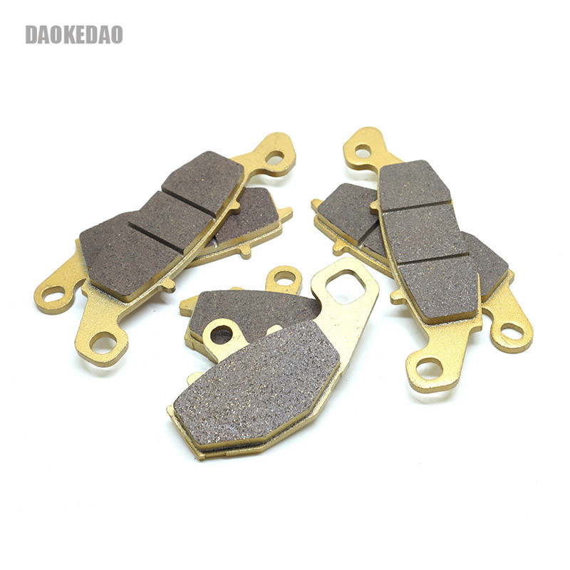 Motorcycle Front Rear <font><b>Brake</b></font> <font><b>Disc</b></font> Pads Set for <font><b>Kawasaki</b></font> <font><b>Z750</b></font> 2004-2006 Z750S 2005-2010 GPZ 1100 1995-1997 image