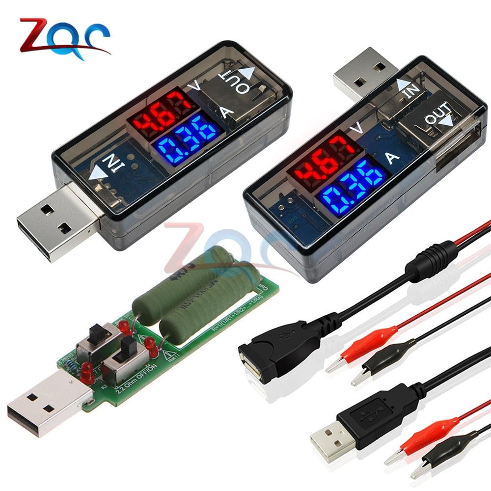 Dual Display USB Tester Digital Voltmeter Ammeter Car Voltage Current Meter Detector Monitor Power Bank Charger Doctor 5V 12V