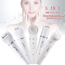5 in 1 Multifunctional Facial Cleaning Brush Electric Face Deep Cleaner Massager Cleansing Tools