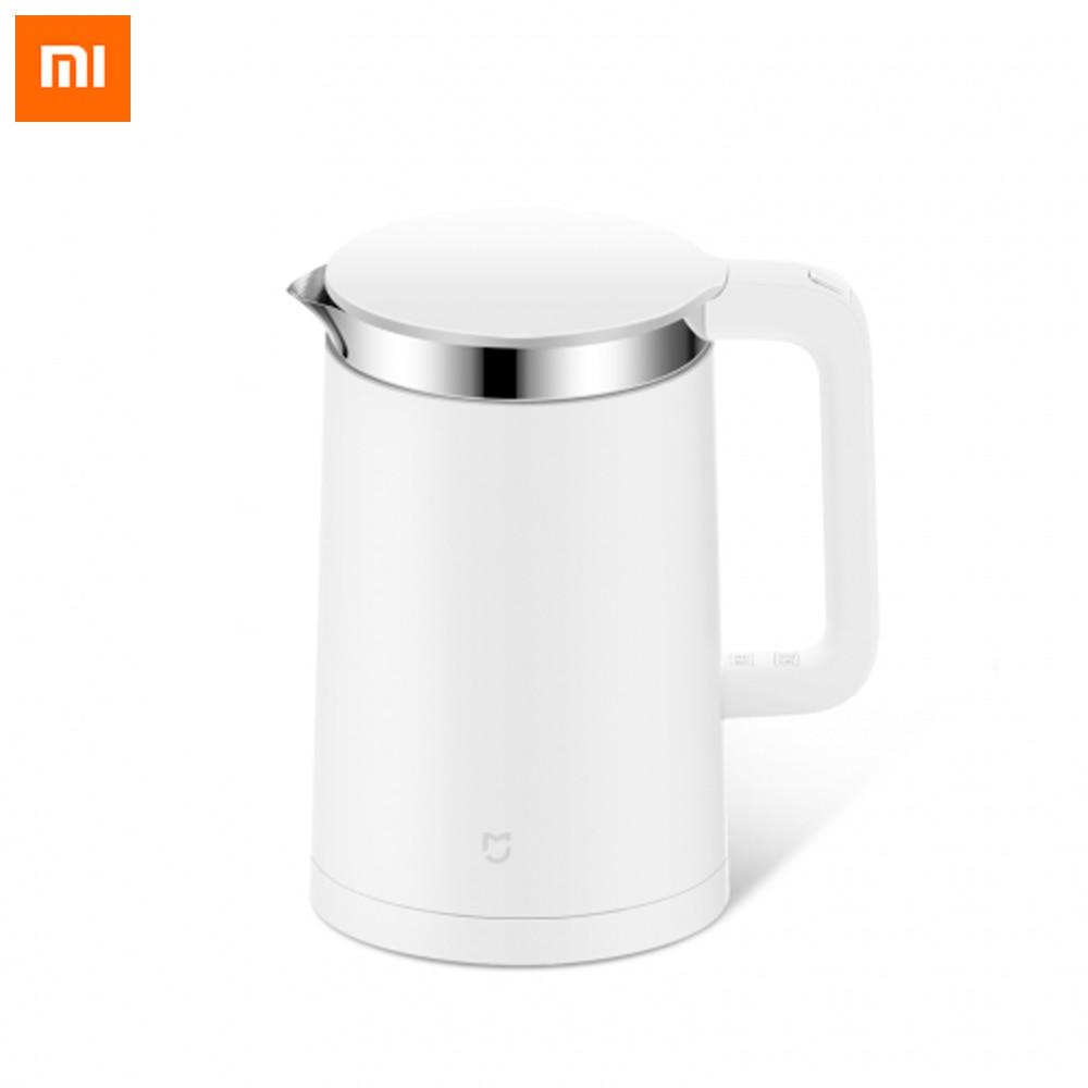 Original Xiaomi Mi Electric Water Kettle 1.5L Bluetooth Constant Temperature Control 12 Hours Thermostat Control By Mijia APP|Earphones| |  - title=