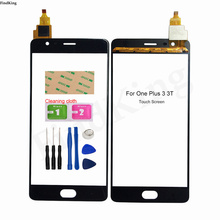 Mobile Touch Screen For One Plus 3 3T A3000 A3010 1+3 1+3T Touch Screen Front Glass Digitizer Panel Sensor Tools Adheisve