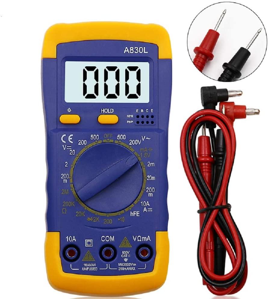 Цифровой мультиметр A830L, Многофункциональный Вольтметр, амперметр, Измеритель постоянного/переменного тока, с ЖК дисплеем