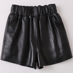 2019 New Fashion Genuine Real Sheep Leather Shorts H37