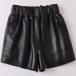 2019 neue Mode Echte Reale Schafe Leder Shorts H37
