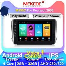 MEKEDE-Radio con GPS para coche, Radio con Android, 4 GB + 64 GB, DVD, RDS, controles de volante USB, para peugeot 2008, 2009-2016