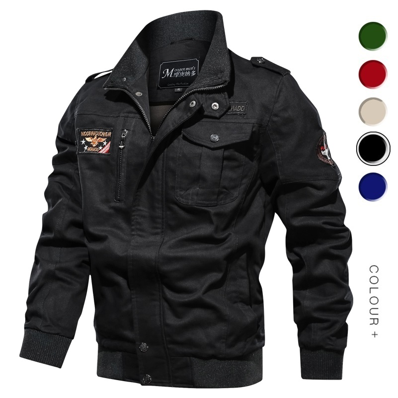 Casual Jacket Men 2020 Spring Autumn Army Military Jackets Mens Coats Male Outerwear Windbreaker Slim Fit Stand Collar Male Coat