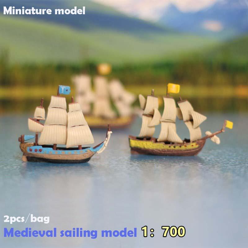 Miniature Model  1:700  Medieval Sailing Model  Sand Table Landscape Decoration Materials