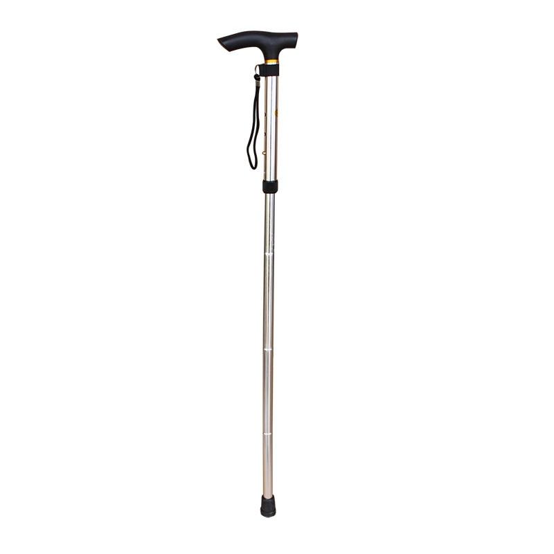 Trekking Pole Aluminum Alloy Folding Cane Telescopic Outdoor Cane Slip Elderly Help Climbing Accessories     - title=