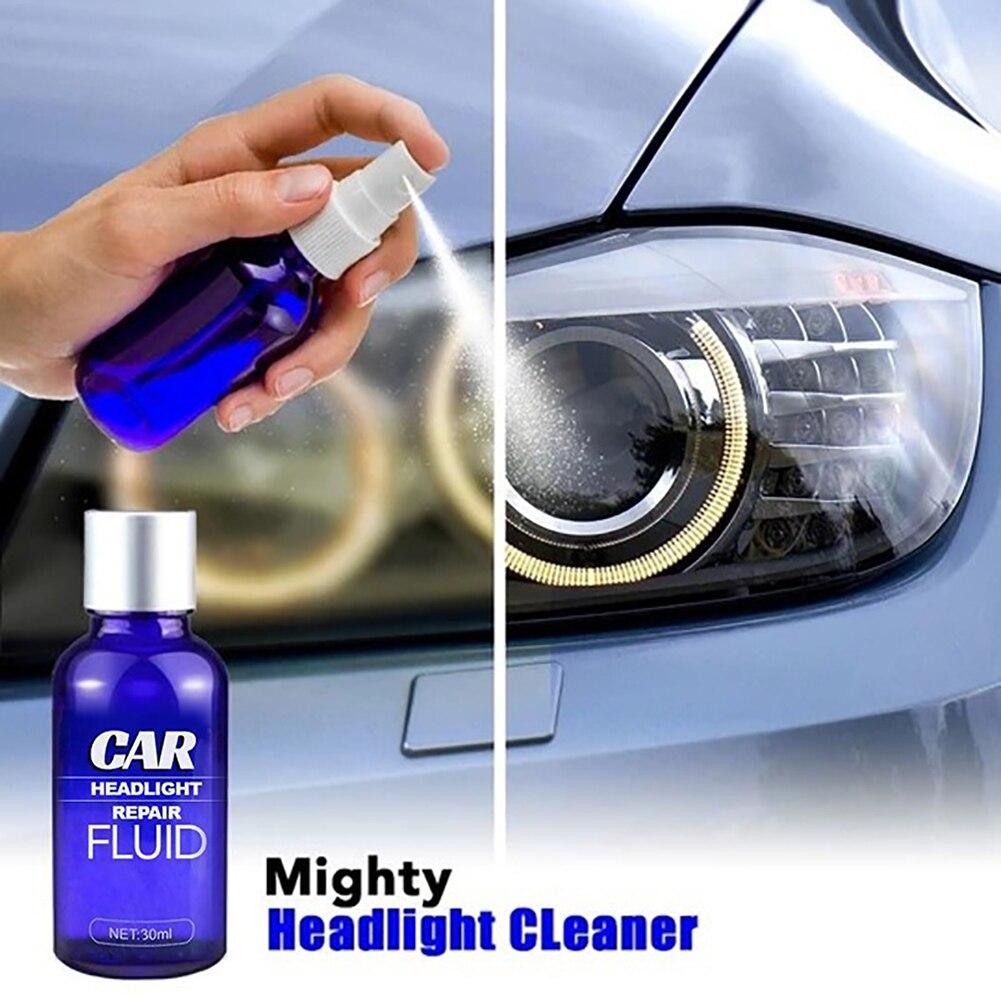 30 мл автомобильных фар ремонт жидкость для удаления царапин быстрая Защита от ультрафиолетовых лучей фар автомобиля очиститель автомобиль...