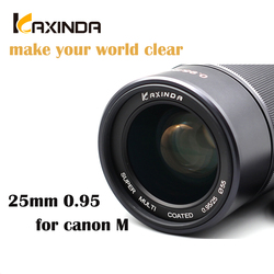 Kaxinda 25mm f/0.95 High Definition Wide Angle  Lens with Large Aperture for Canon EF-M Mount Mirrorless Camera