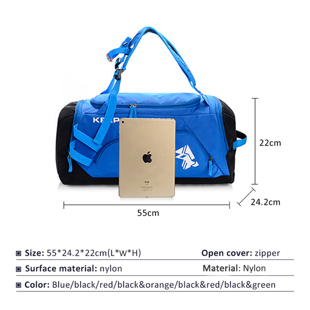 Sports Gym Bag Waterproof Sports Bags for Men Fitness Women Yoga Training Handbag with Shoe Compartment