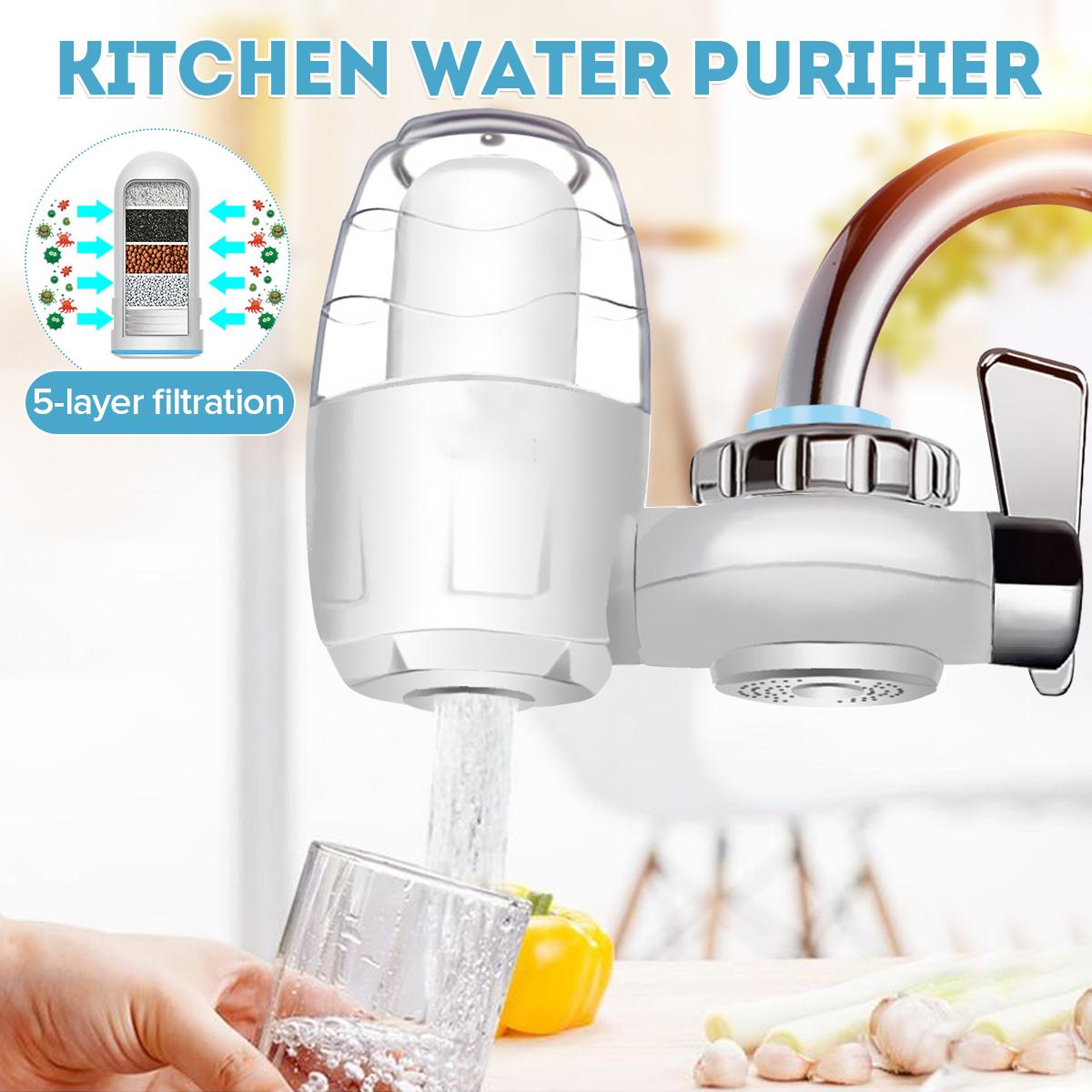 Kitchen Tap Water Purifier 7 Layer Water Filter Replacement Faucet Washable Ceramic Percolator Filtro Rust Bacteria Removal