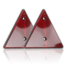 2x refletores triangulares reflexivos vermelhos do aviso da segurança do refletor do triângulo para o caminhão do barco do trator do caminhão da caravana do reboque rv