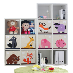 3d cartoon animal storage box kids toy organizer folding clothing storage basket office organizer Cabinet Storage Rack Bookshelf